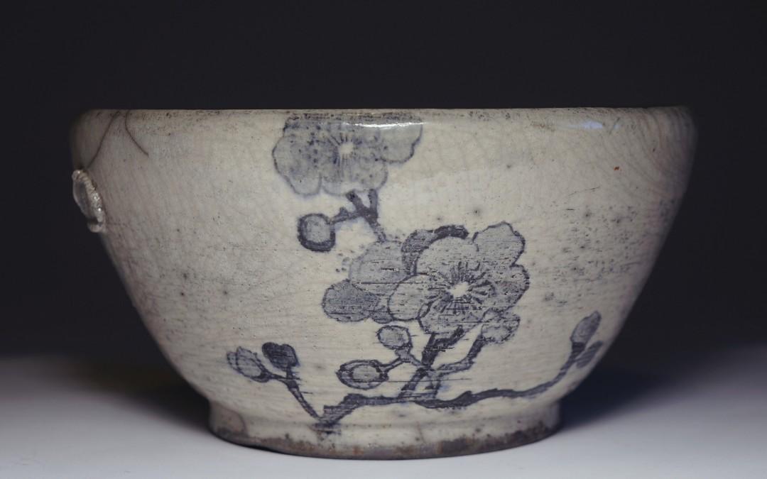 Ręcznie malowana miska z motywem kwiatu śliwy #72
