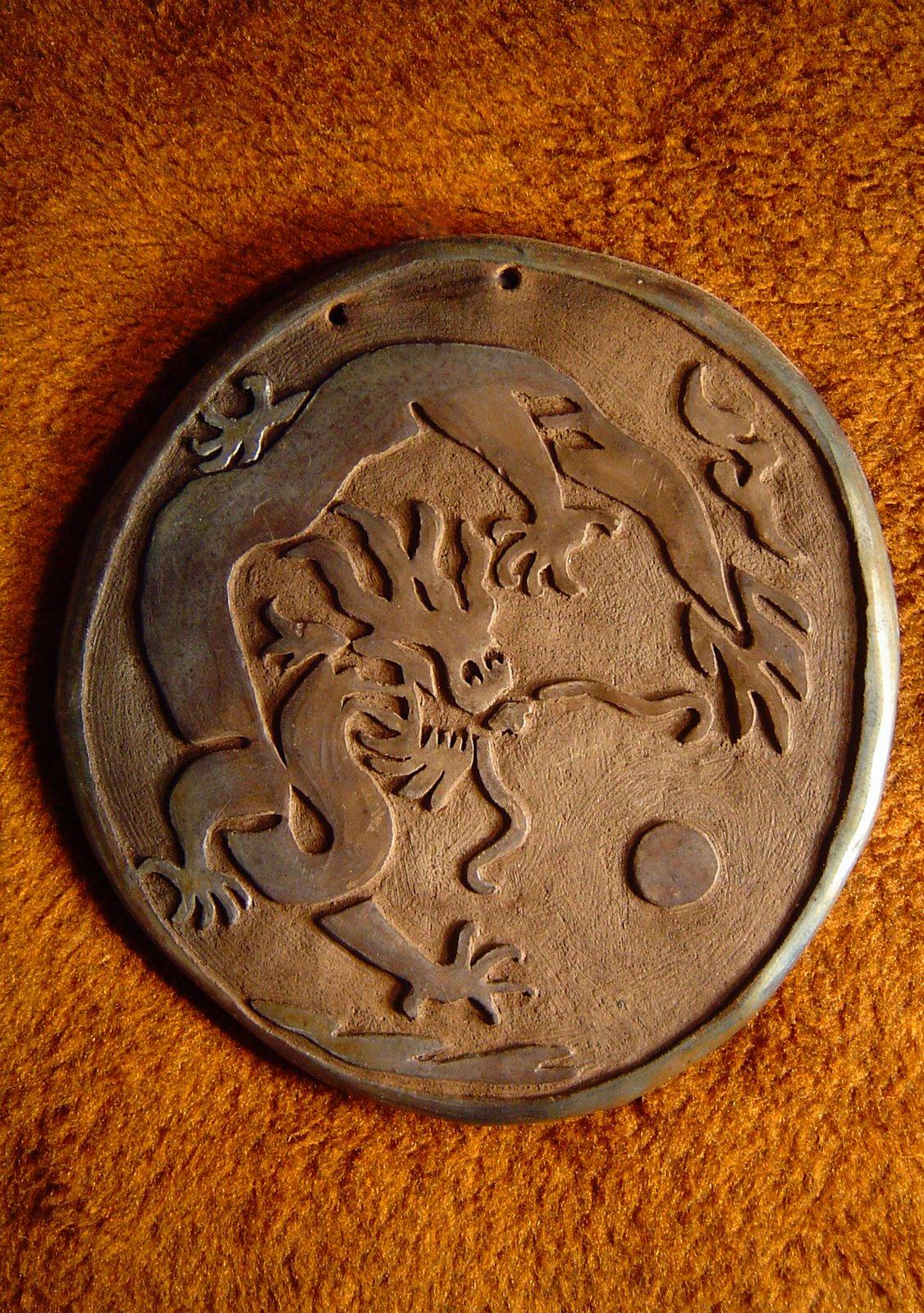 Obrazek ceramiczny – smok chiński