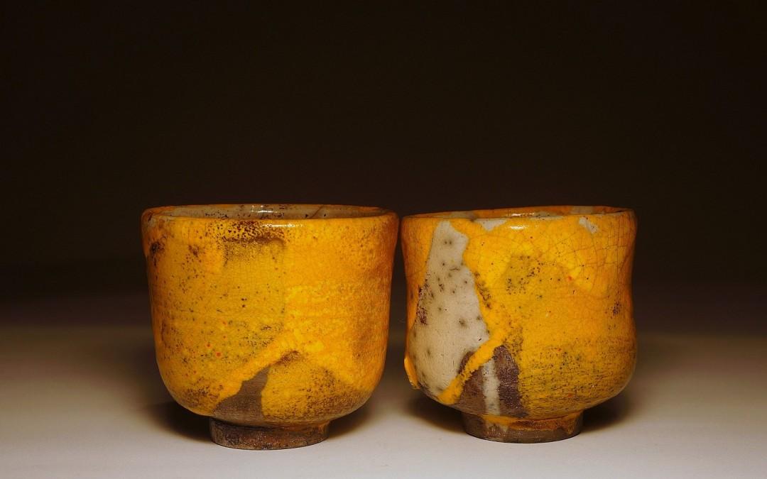 Komplet żółtych czarek do herbaty (yunomi) #97