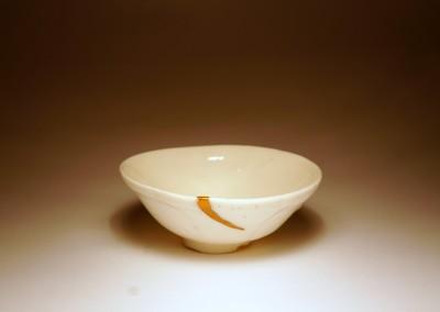 Porcelanowa miseczka z kintsugi – wabi sabi porcelanka #106