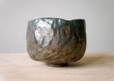 Matcha chawan lazurowy, ręcznie lepiony #110