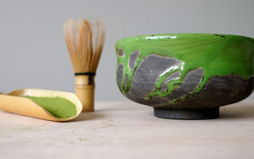Mały zielony chawan – czarka do herbaty matcha #111