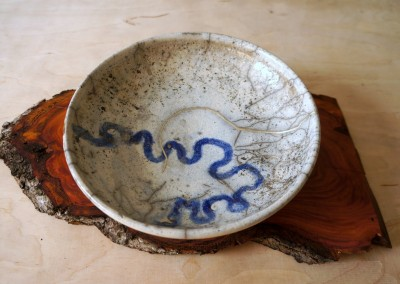 painted kintsugi plate