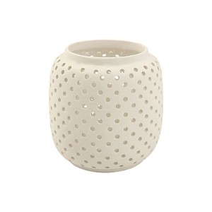 white-open-work-ceramic-candle-holder