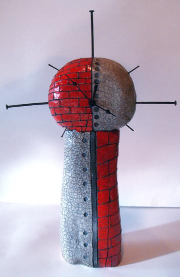 Zegar z ceramiki - zdjęcie z flickr.com by mlambdin