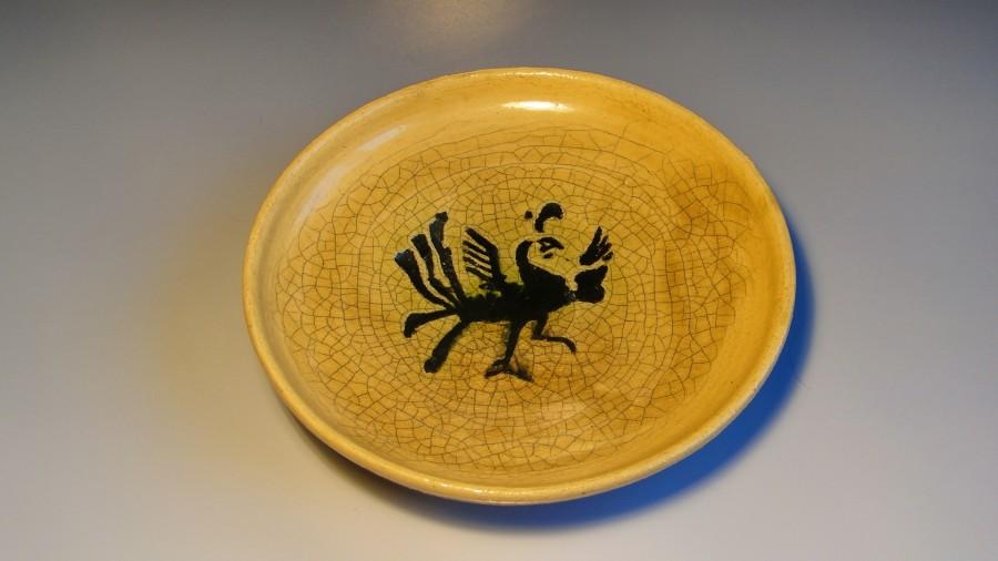 Ceramiczny talerz z feniksem
