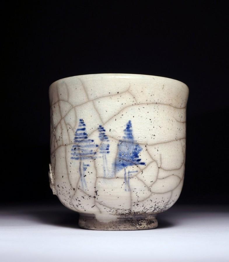 "Justyna Karamuz • painted yunomi ""Trees"""
