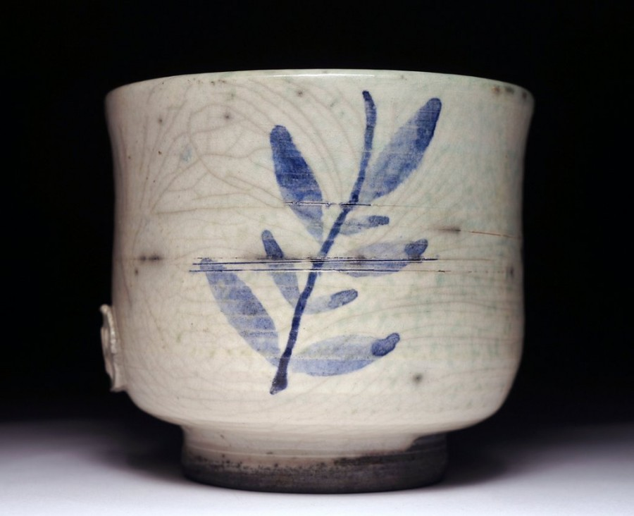 Painted tea bowl (yunomi), Mojaceramika.pl