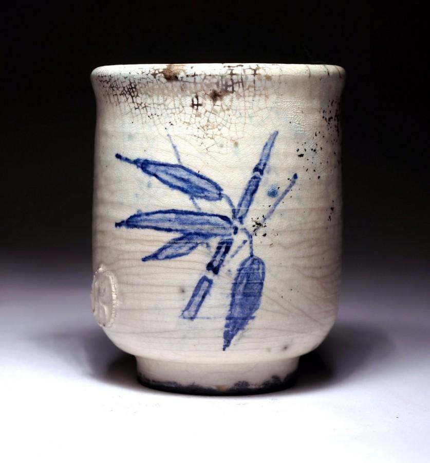 """Justyna Karamuz • painted Yunomi """"bamboo"""""""