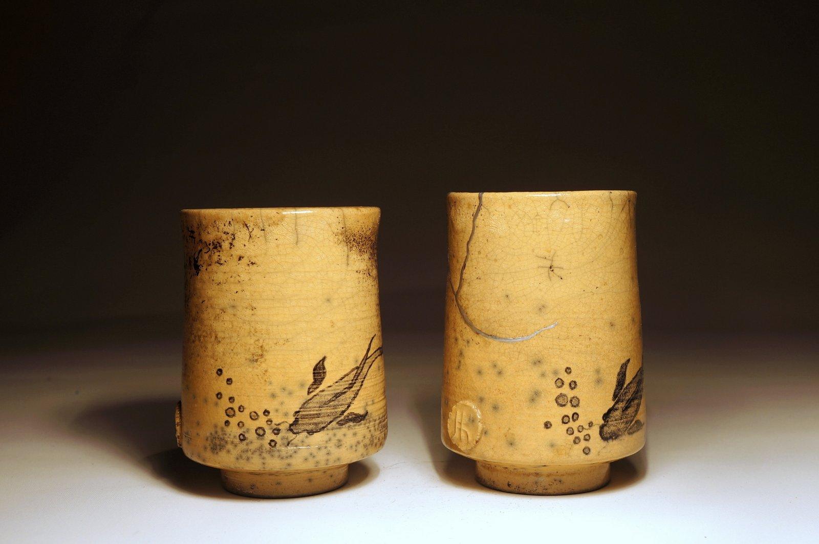 Malowane czarki do herbaty